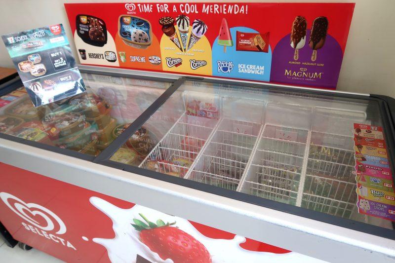 セブ島のセブンイレブンのアイスクリーム