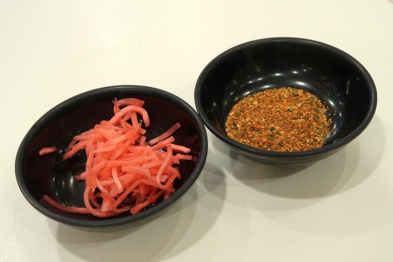 セブ島の吉野家の唐辛子と紅生姜