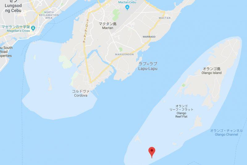 ナルスアン島の地図