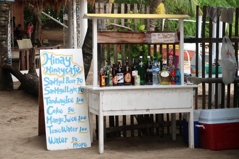 カオハガン島で買えるドリンク