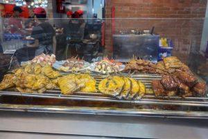 セブ島SMシティモールのRIBSHACKの料理