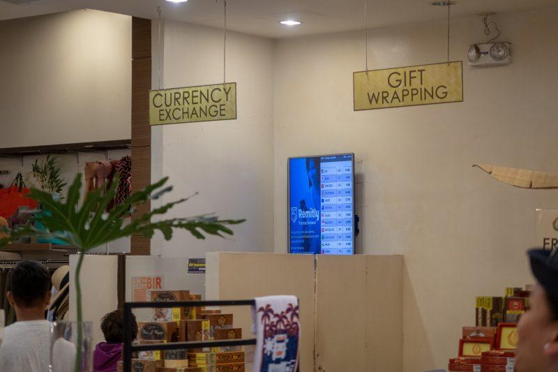 SMシティセブのKulturaの両替所