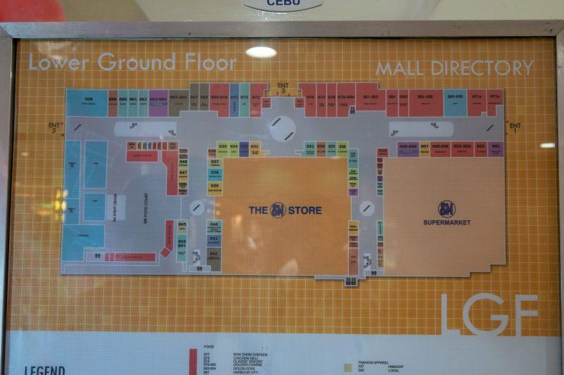 SMシティセブの地下1階の地図