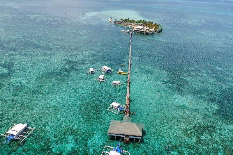 ナルスアン島の空撮