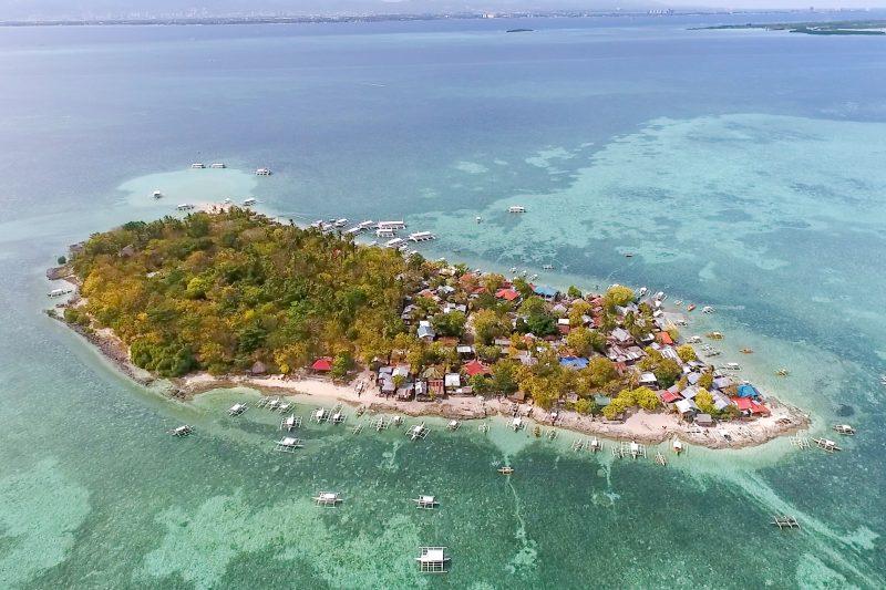 カオハガン島の全景