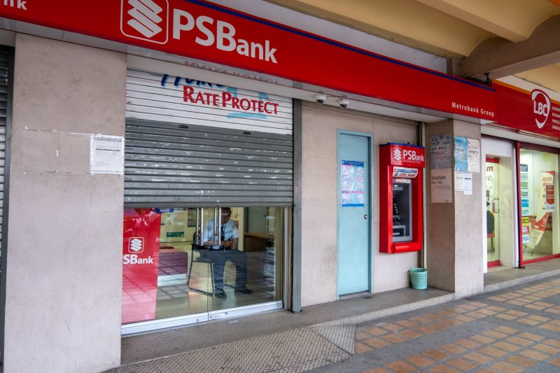 セブ島カントリーモールのPS Bank