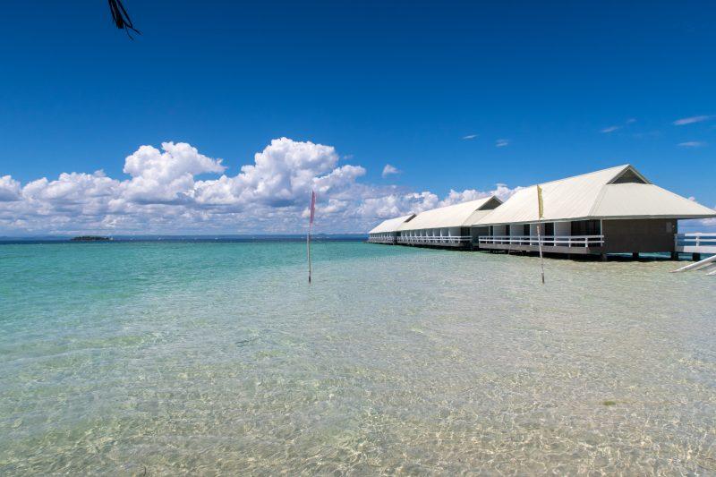 ヒルトゥガン島のビーチエリア