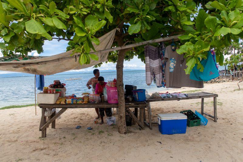 パンダノン島の売店