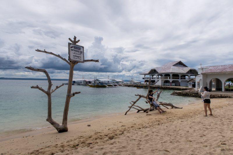パンダノン島のビーチ