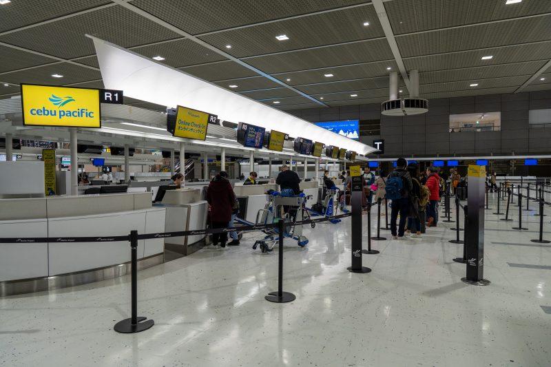 成田空港のセブパシフィック航空カウンター