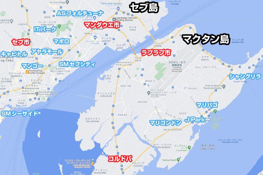 セブ島の地図