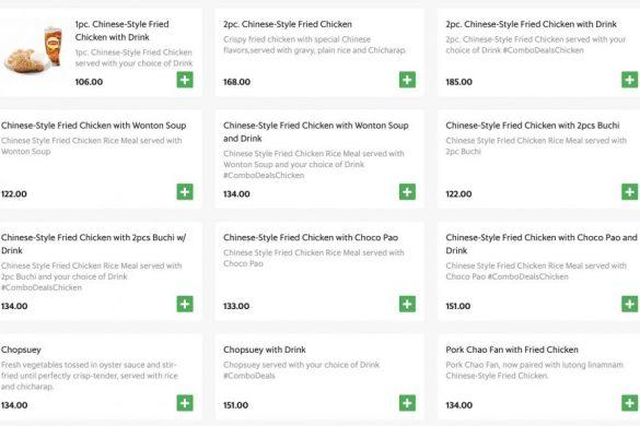 Chowkingのメニューと価格